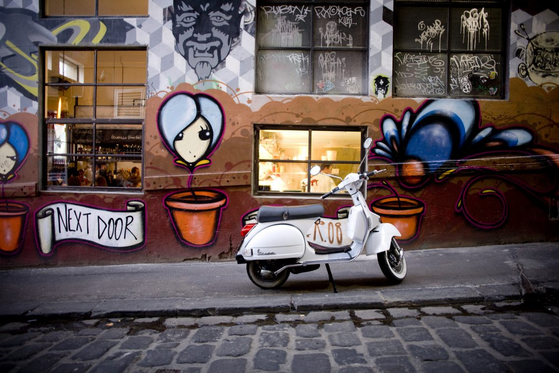 Exterior of MoVida Next Door, Hosier Lane